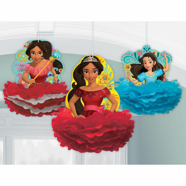 Elena Of Avalor Fluffy Decorations 3 Birthday Party Supplies Paper Disney For Sale Online Ebay