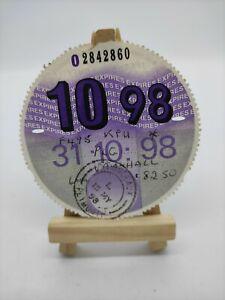 VAUXHALL 1998 Original Old Road Tax Disc Motor Vehicle Car Cars Discs Rare Stamp