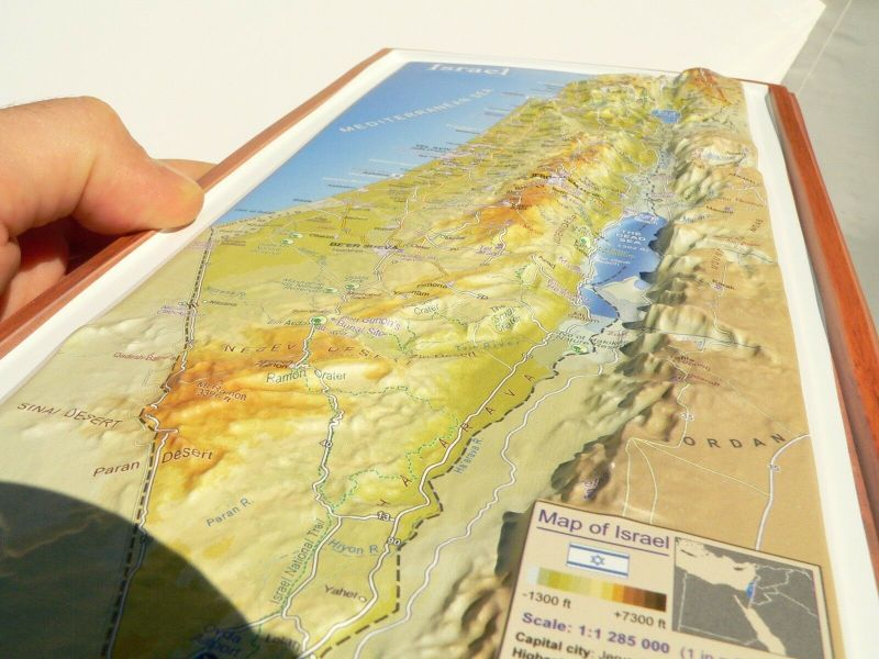 Israel 3 d Topographic Wall Map Roads Holy Places Bible Land English     Israel 3 d Topographic Wall Map Roads Holy Places Bible Land English 15   Travel   eBay