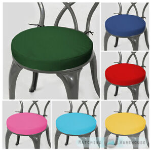 details about round garden chair cushion pad only water resistant outdoor bistro patio stool