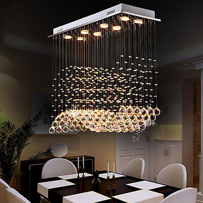 Modern 8 Light Crystal Chandelier Downlight Artistic Ceiling Lights Dining Room Ebay