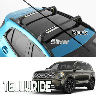 kia telluride roof rack crossbars fits to for flush roof rails silver color ebay