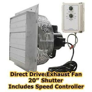 details about 20 exhaust fan 3 850 cfm 115 230 volts variable speed speed controller