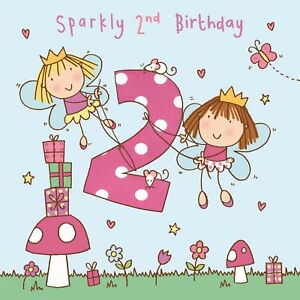2 Year Old Card Age 2 Card 2nd Birthday Card For Girl Girl Age 2 Card Fairy Ebay