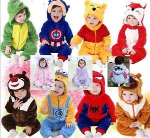 Kids Baby Toddlers' Pajamas Romper Kigurumi Unisex Cosplay Anima Suit Onesie1