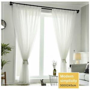 details about extra large white voile curtains 97 x118 net plain curtains door window uk