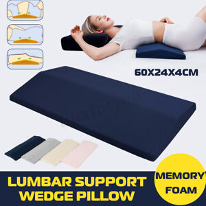 details about lumbar support wedge memory pillow bed cushion for sleep lower back pain relief