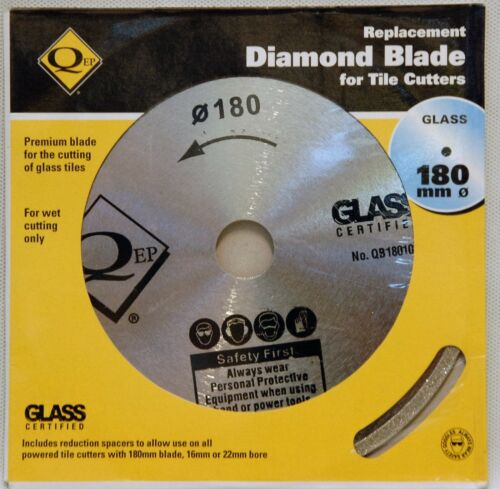 qep diamond replacement tile saw blade 180mm 16mm 22mm bore glass cutter