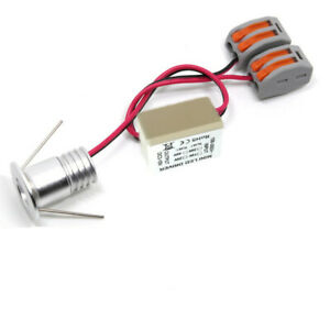 details sur 10 x 1w 20mm mini led spot encastrable lumiere plafonnier blanc pur ac85 265v