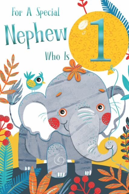 Age 1 Nephew 1st Birthday Card For Sale Online Ebay