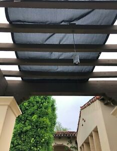Details About Sun Shade Screen Panel 12ft X 8ft Gazebo Pergola Balconies Porch Patio Awning