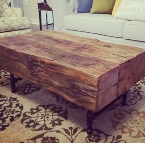 details about 3 beam coffee table reclaimed 100 year old barn beams