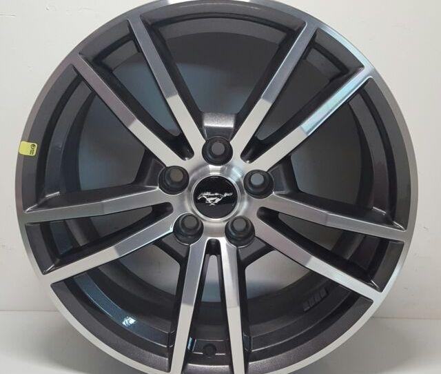 Ford Mustang Black Chrome Wheels Rims Tires Factory Oem   Ebay