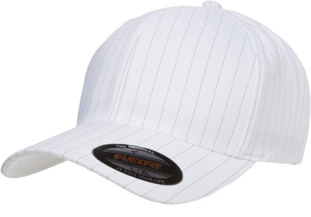 b1b7f92a7a4 6195P Flexfit Pinstripe Fitted Baseball Blank Plain Hat Ballcap Cap ...