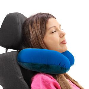 details about travelon triplogic microbead u shaped travel flight neck pillow navy l x