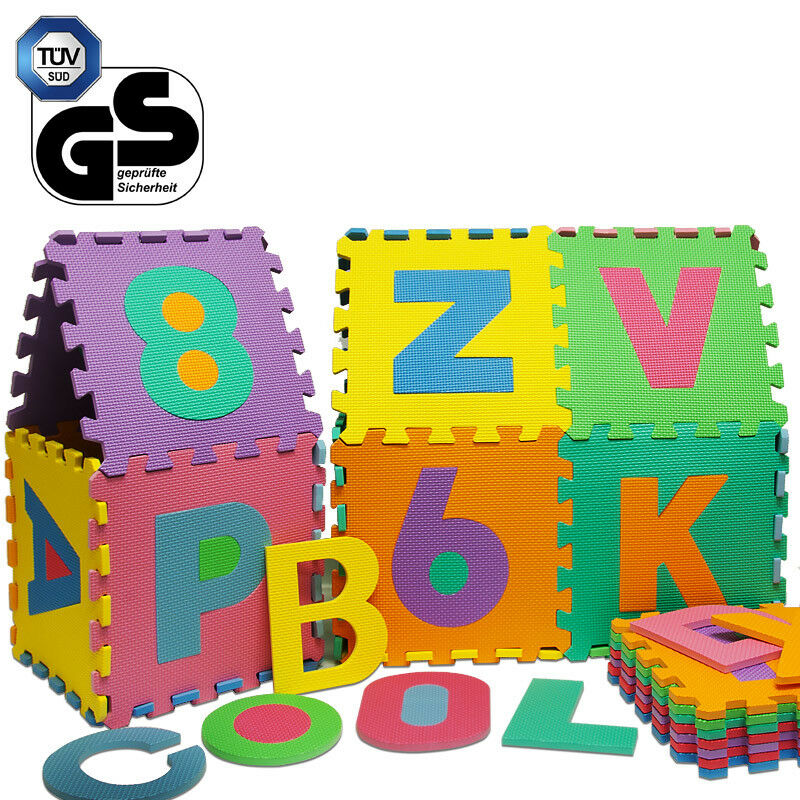 puzzle tapis mousse 86 pieces alphabet