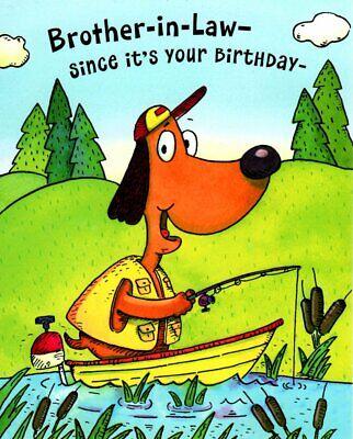 Funny Happy Birthday Brother In Law Send My Best Fishes Fishing Hallmark Card Ebay