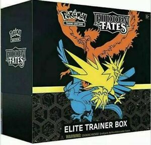Pokemon English Hidden Fates Elite Trainer Box In Stock Sealed Case of 10