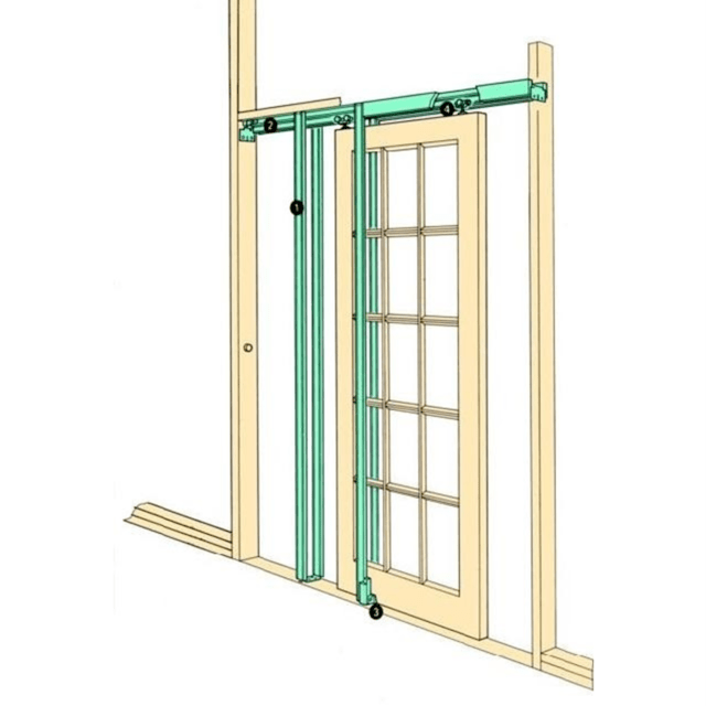 coburn h36 hideaway sliding pocket door frame kit internal doors 36 915mm wide