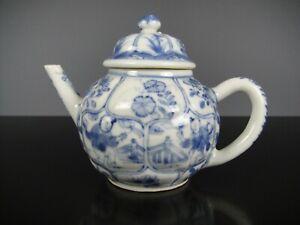 Rare Beautiful Chinese Porcelain B/W Teapot&Cover-B