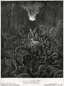 Satana e i suoi demoni trasformati in serpenti