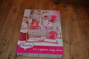 details sur 3 en u chaise haute balancelle porte bebe neuf pour poupon aimantine