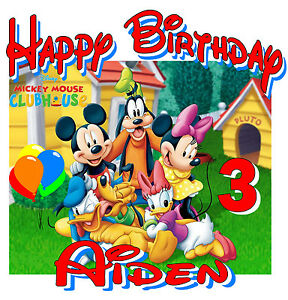 New Personalized Custom Mickey Mouse Clubhouse Birthday T Shirt Party Favor Ebay