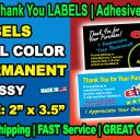 2,500  eBay Seller Thank You LABELS | STICKERS Elegant, High Quality, FREE SHIP