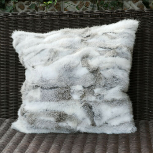 real fur pillow case pieced rabbit fur pillow cover real fur cushion cover