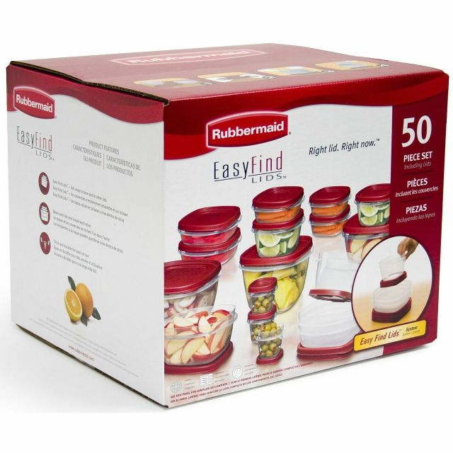 Rubbermaid Easy Find Lids Food Storage Set - 50-piece  FREE SHIPPING 2