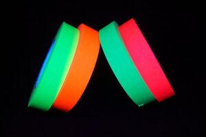 1 Inch UV Blacklight Reactive Fluorescent Artist Tape 1 Roll x 60 Yards
