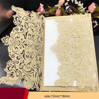 50pcs Golden Bulk Wedding Invitations