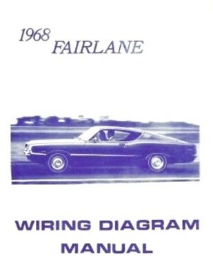 ford 1968 fairlane wiring diagram manual 68  ebay
