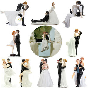 ROMANTIC FUNNY WEDDING CAKE TOPPER FIGURE BRIDE GROOM COUPLE BRIDAL     Image is loading ROMANTIC FUNNY WEDDING CAKE TOPPER FIGURE BRIDE GROOM