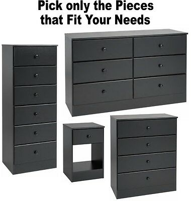 black bedroom furniture dressers nightstands chest dresser drawer sets 4 6 7 new ebay