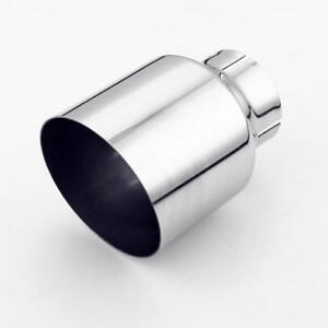 details about stainless steel exhaust tip 2 5 inlet 4 outlet 5 5 long angle cut single wall