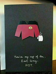 Celebrations Occasions A5 Generations Picard Spock Klingon Borg Star Trek Personalised Birthday Card Home Furniture Diy