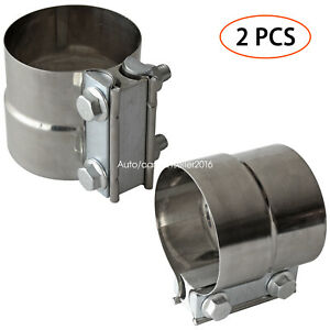 details about 3 inch exhaust clamps stainless steel muffler band clamp for 3 inner diameter
