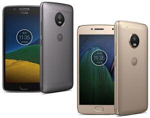"Motorola Moto G5 XT1676 Dual Sim (FACTORY UNLOCKED) 5.0"" 16GB 3GB RAM Gray Gold"