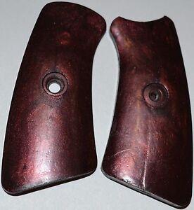 Ruger Gp100 Pistol Grip Insert Panels Black Russet Plastic