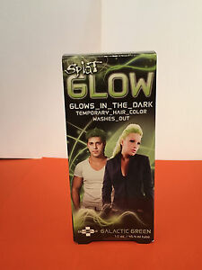 splat glow in the dark temporary hair color galactic green 1 6 oz ebay