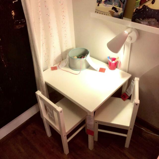 ikea table pour enfant kritter en bois massif lxpxh 50x59x50cm blanc neu ovp