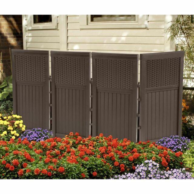 patio screen enclosure outdoor backyard fence furniture resin wicker 4 panels