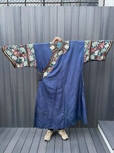 wonderful Antiques Chinese robe with dragons 65 In X 54 In