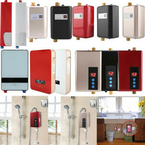 details about electric tankless instant hot water heater under sink tap bathroom kitchen use