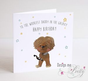 Star Wars Chewbacca Personalised Birthday Card Dad Brother Son Uncle Ebay