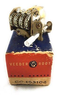 Vintage Veeder Root 4 Digit Mechanical Push Turn