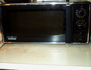 details about microwave oven vintage 1984 ge spacemaker ii rotary knobs w glass tray appliance