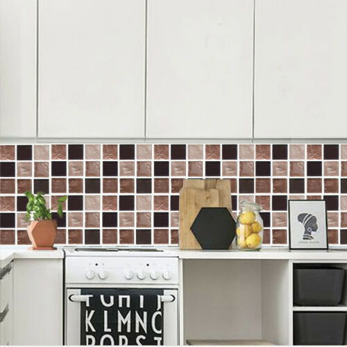 3d wall stickers self adhesive wallpaper faux mosaic tile stickers kitchen decor