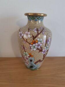 Antique cloisonne vase .fabulous condition size 14cm.